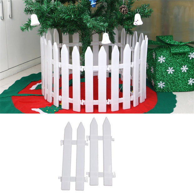 White Color Christmas Decorative Fence Ornaments Supplies