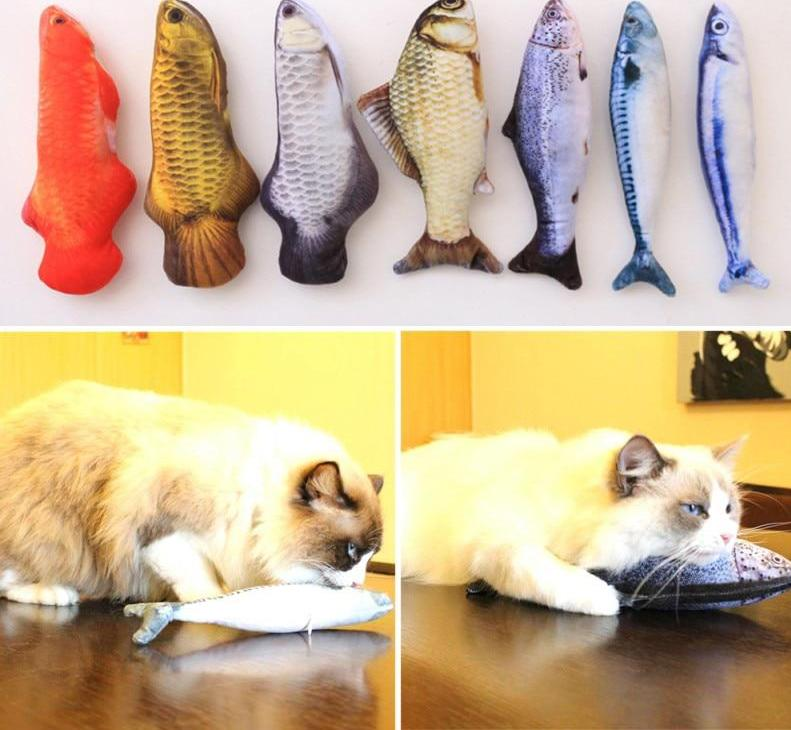 Fish Pet Toys For Kitten Cushion