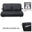 Full Size Convertible Sofa Sleeper Bed Lounger Faux Suede Cover w/ Pillow