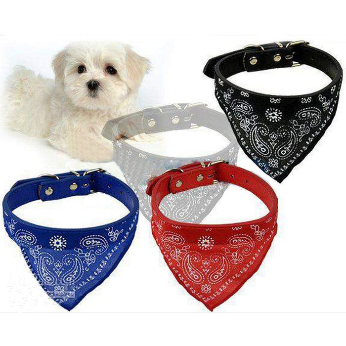 Adjustable Dog Supplies Neck Scarf patterns With Collar Neckerchief - Toyzor.com