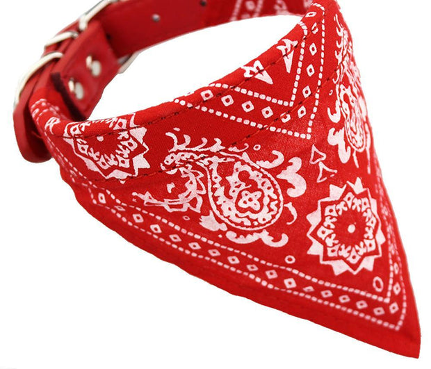 Adjustable Pets Collar Printed Neckerchief - Toyzor.com