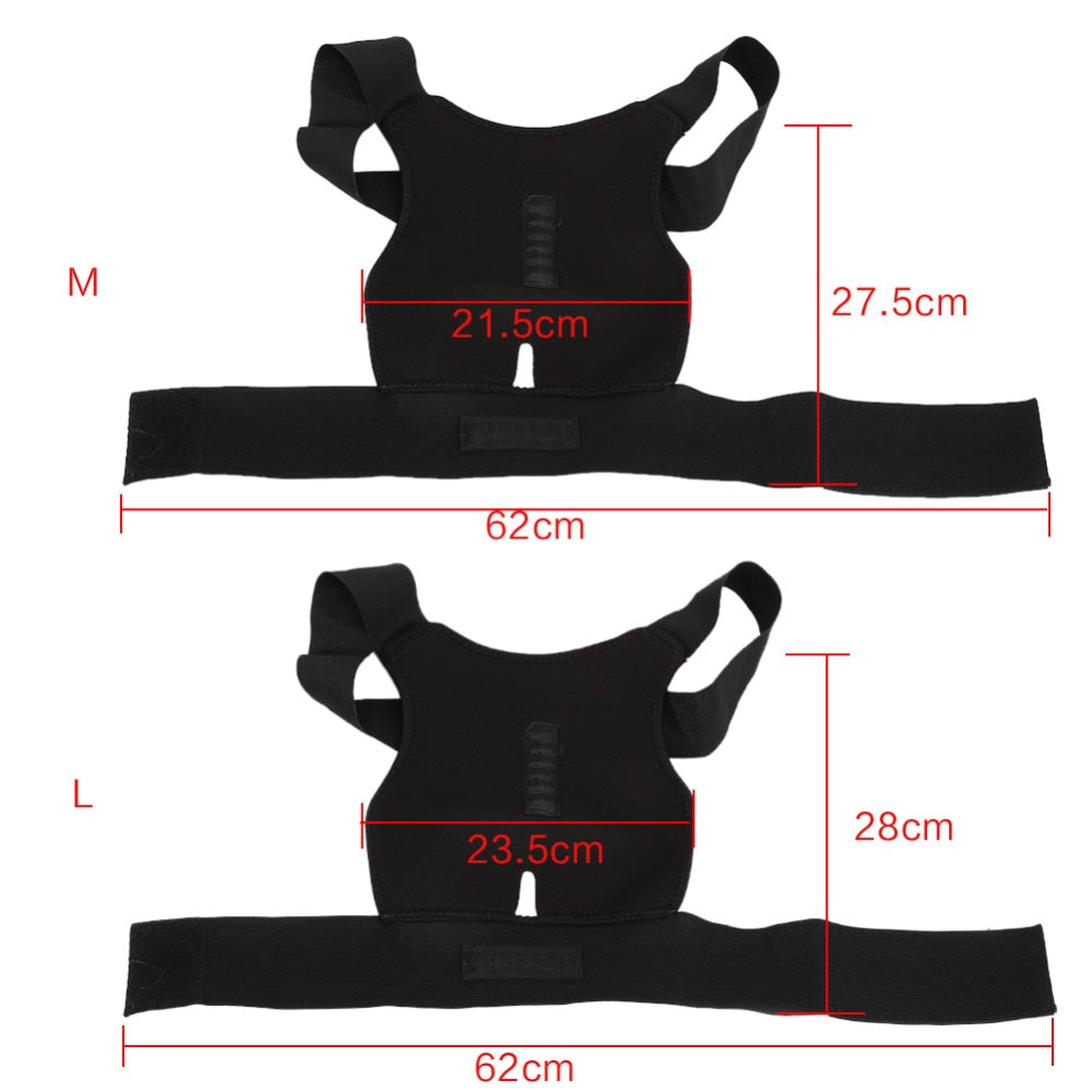 Adjustable Posture Corrector Back Brace Support Belt