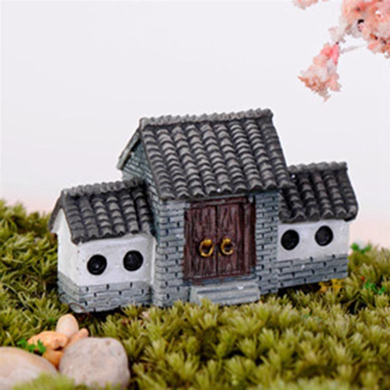 Ancient House Archway Micro Landscape Mini Old City Ornaments Crafts Fairy Garden Bonsai Home Decoration