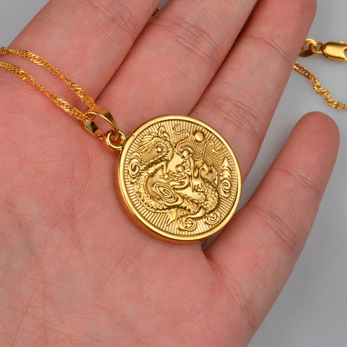 Golden Dragon Necklace