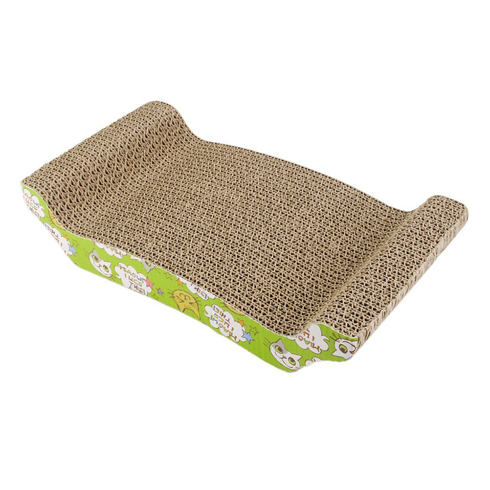Arch Bridge Corrugated Board Cat Scratcher Seize Scratch Pad Catnip Bed Interactive Toy