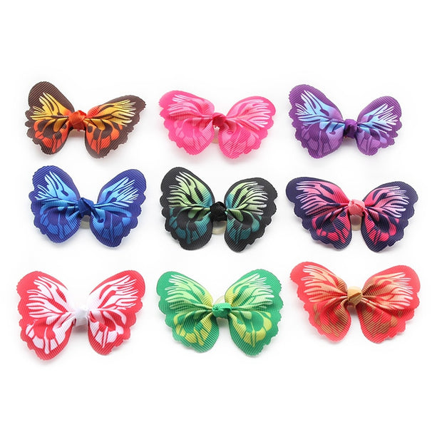 Handmade Butterfly shaped Dog Hair Flower Bows