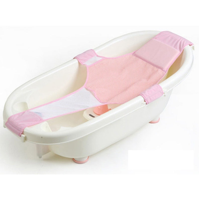 Adjustable Infant Shower Bathtub with Net Safety Security Seat Support
