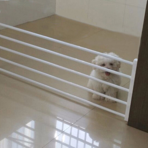 Dog Fence Safety Gate Pets Indoor Retractable Isolating Plastic Stair Fence Door