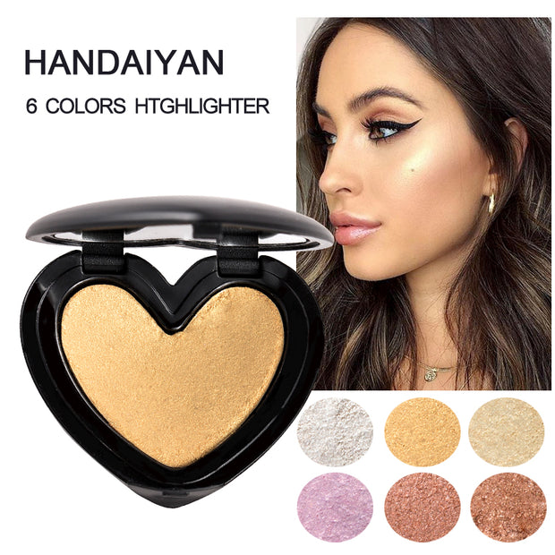 Shimmer Highlighter Face Cosmetics Pressed Powder