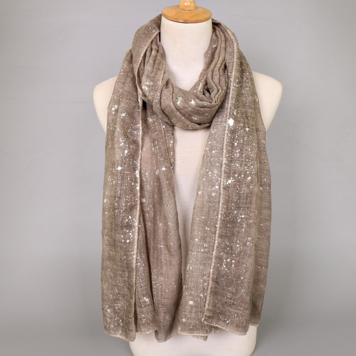 Glittered Viscose Shawl