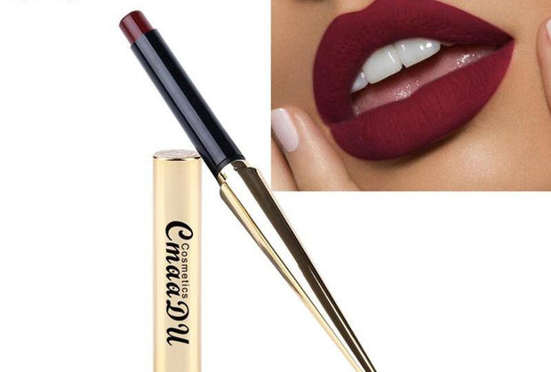 Sexy Matt Lipstick Waterproof Long Lasting Makeup Silky Texture Durable Lips Cosmetics
