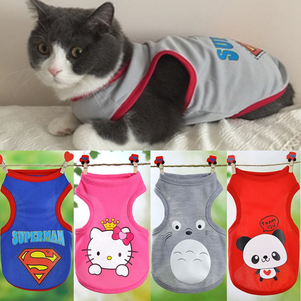 Vest Costumes Pet Clothes For Small Cats Shirt Clothing Kitty Outfit
