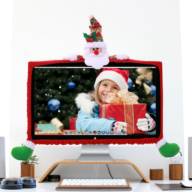 Computer Cover/TV Cover Santa Claus LED Covers Ornament Christmas Home Decor
