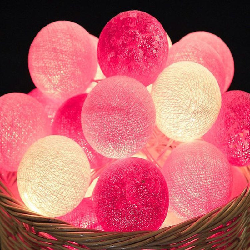 Colorful Cotton Ball LED Glow Light String Lights for Christmas Decoration