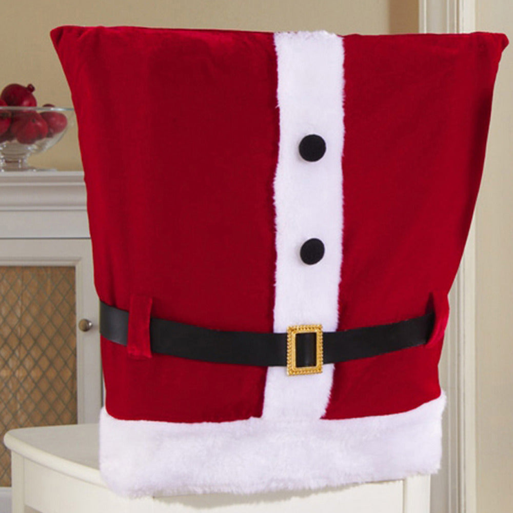 Merry Christmas Santa Claus Chair Covers Dinner Table Chair Back