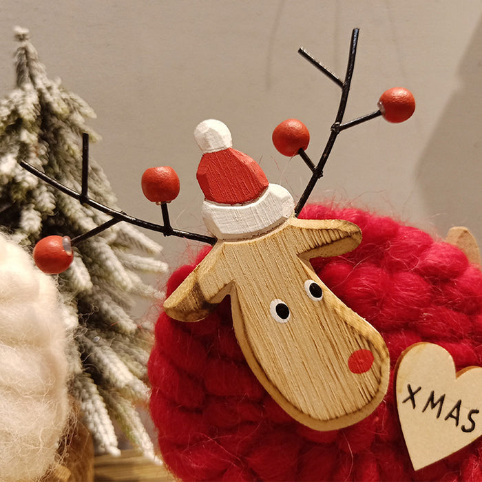 2019 New Hanging Felt Deer Xmas Desktop Baubles Christmas Decoration