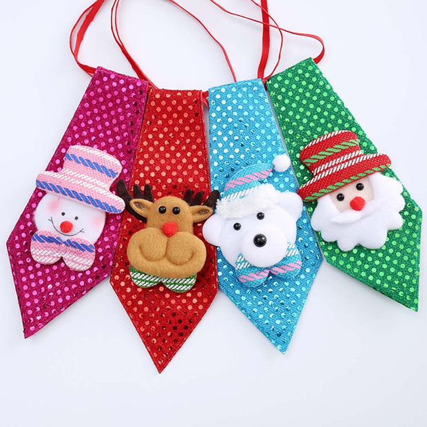 Christmas New Year Tie Party Accessories Boys Creative Christmas Bow Tie