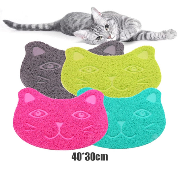 Toilet Pad Paw Cat  Face PVC Pads Placemat Tray