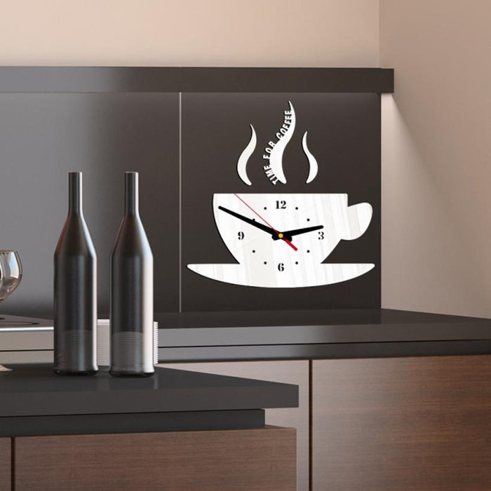 Coffee Shape Acrylic 3D Mirror wall stickers - Toyzor.com