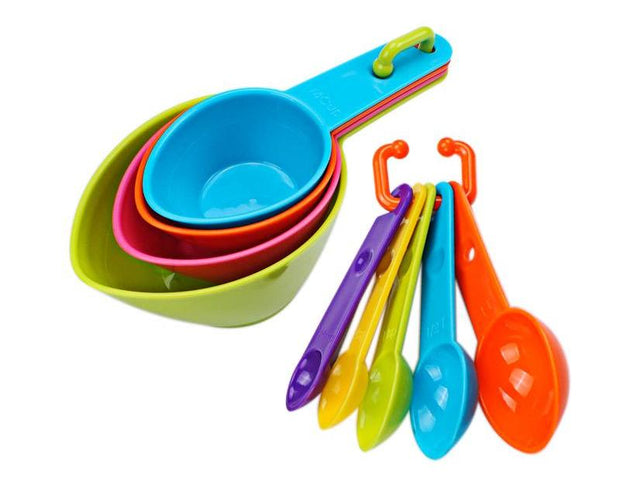 Color works Measuring Spoons Measuring Cups Spoon Cup Baking Utensil Set Kit Measuring Tools