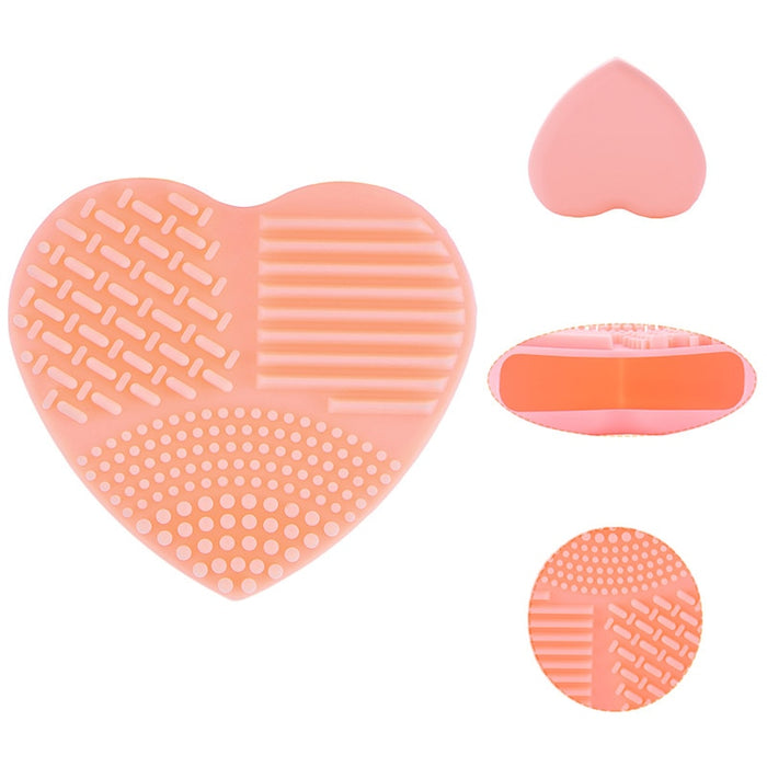 Colorful Heart Shape Clean Make up Brush
