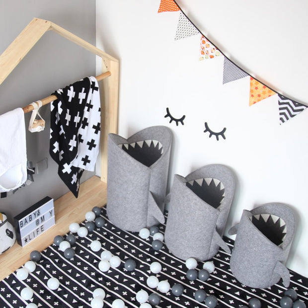 Creative Shark Children Toys Storage Basket Organizer