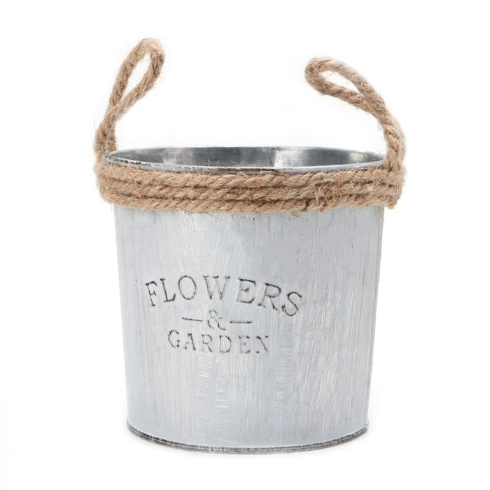 Vintage Galvanised Metal Flower Barrel - Toyzor.com