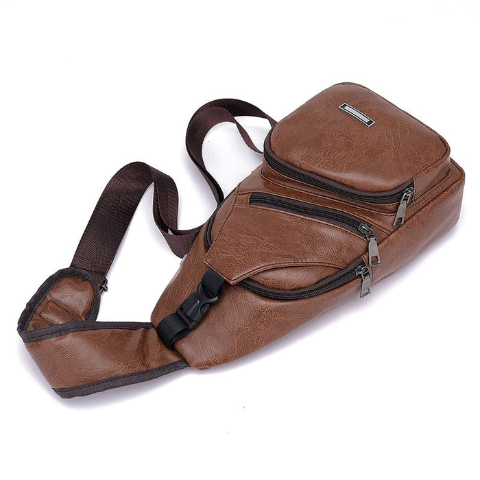 PU Shoulder Bag Men's & Women's Charging Bag - Toyzor.com