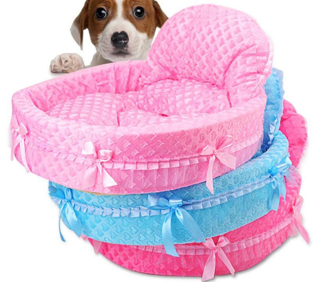 Cute Lace Princess Dog Basket Bed Dream Nest Pet Kennel Luxury Sofa