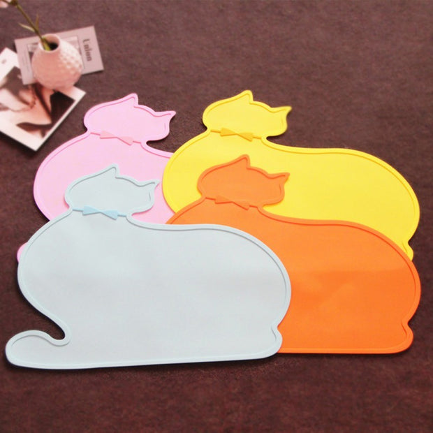 Silicone Cloud Cat Feeding Mat Pad PVC Bed