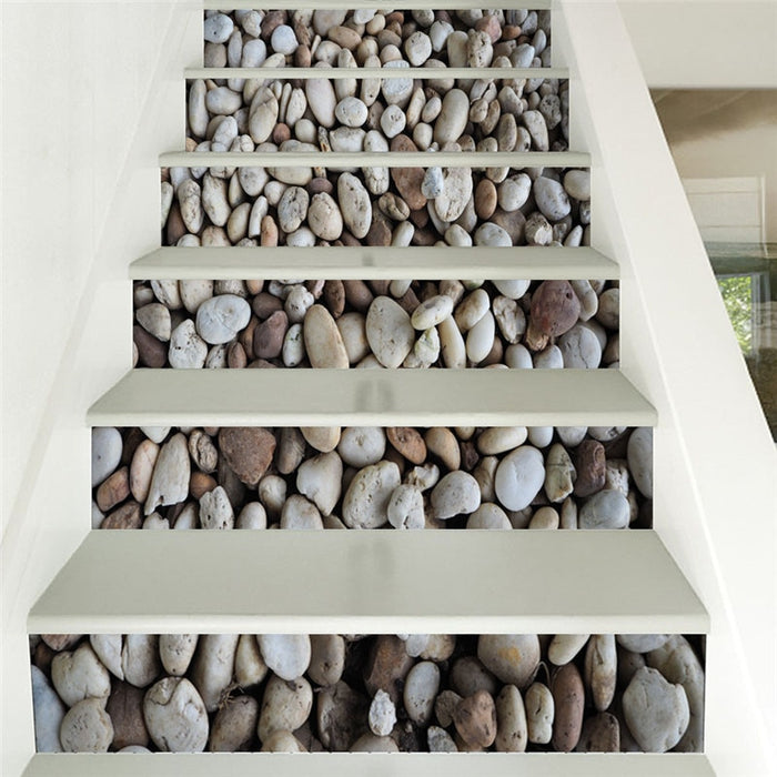 DIY Self adhesive landscape Pattern Stair Sticker 3D Wall Decal Mural Wallpaper Removable PVC Floor