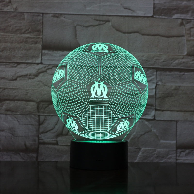 3D Illusion Table Lamp Nightlight 7 Color Changing Luminaria Touch Lights Football Trophy