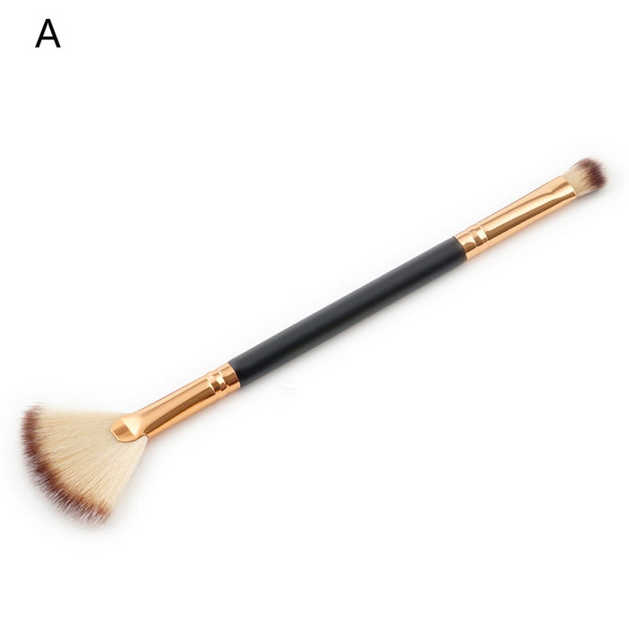 Professional Double-headed Inclined Fan Brush