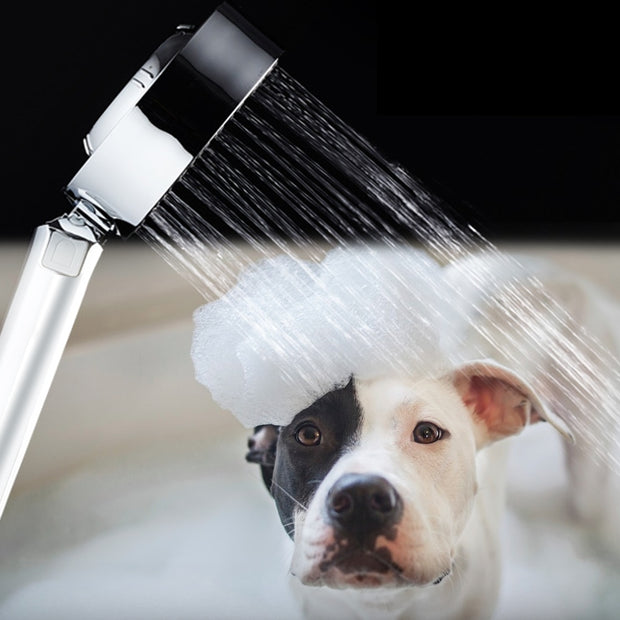 Double-sided Dog Shower Spray Bath Tub Faucet Shower Massage
