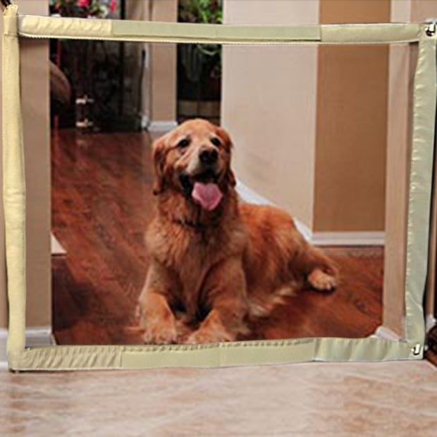The Ingenious Mesh Magic Pet Gate Safe Guard And Install Anywhere Safety Enclosure