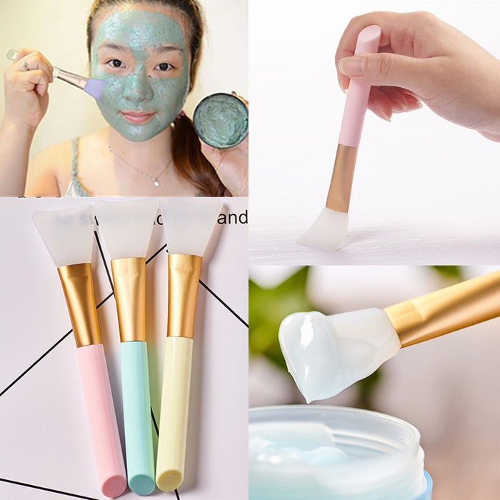 3 Colors 1 Piece Soft Silicone Facial Mask Stirring Brush - Toyzor.com