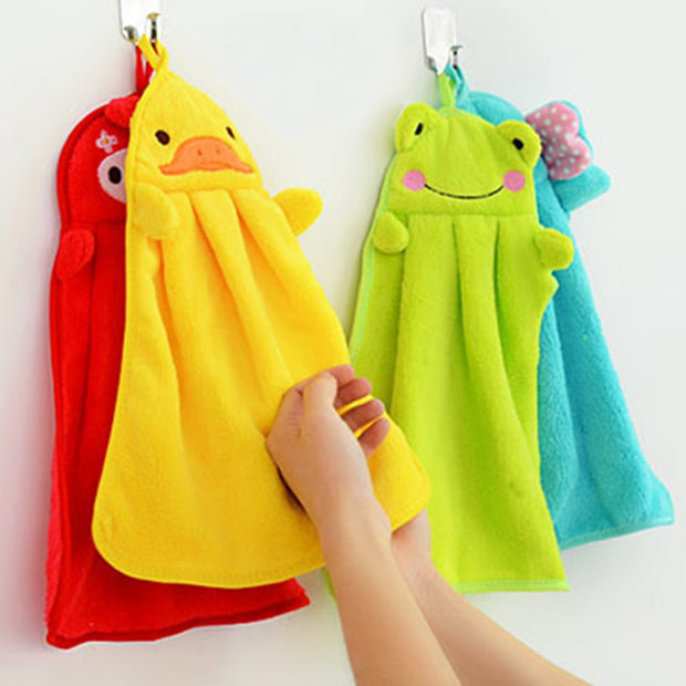 Eco-friendly Soft Coral Cartoon Animal Towel Can Be Hung Kitchen used