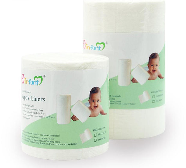 1 Roll Disposable Bamboo Flushable Baby Diaper Biodegradable