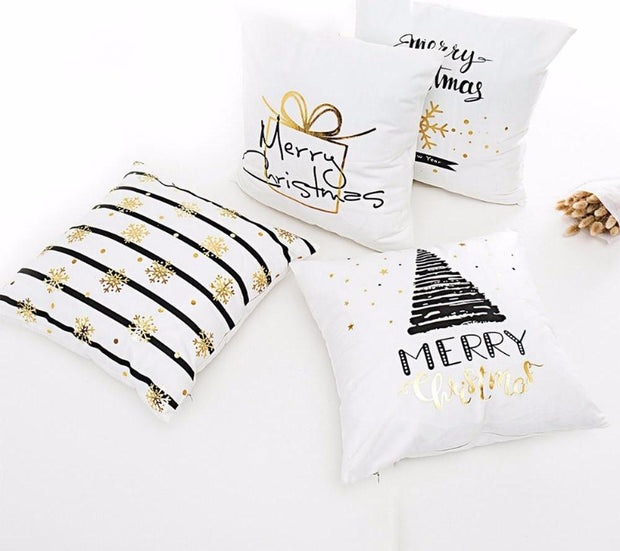 Pillow Case Christmas Ornaments For Home Happy New Year 2019 Christmas 2018