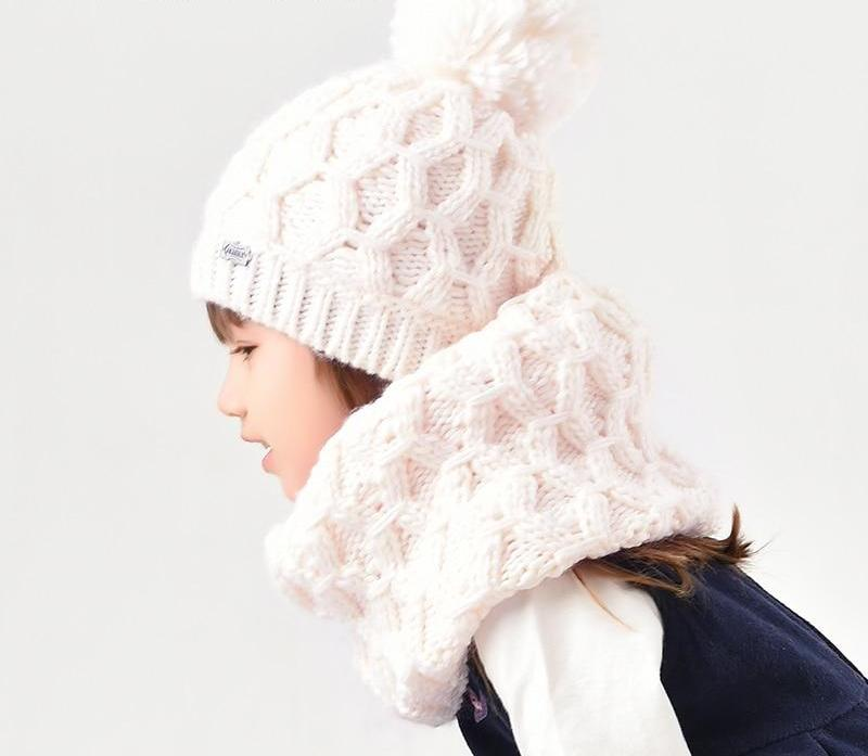 Unisex Children Winter Hat-Scarf
