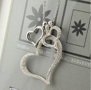 Dull Polish Heart Necklace