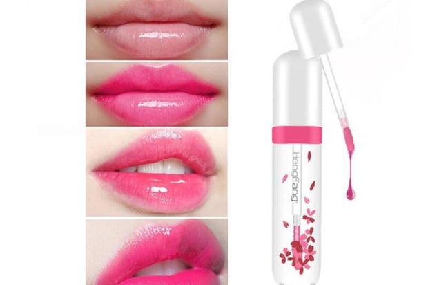 Waterproof Long Lasting Change Color Baby Lips Transparent Flower Jelly Lipstick