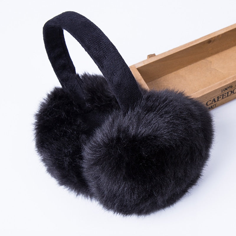 Rabbit Fur Women Earmuffs