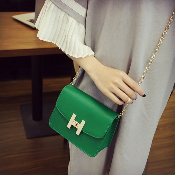 Simple Flap Retro Chain Handbag