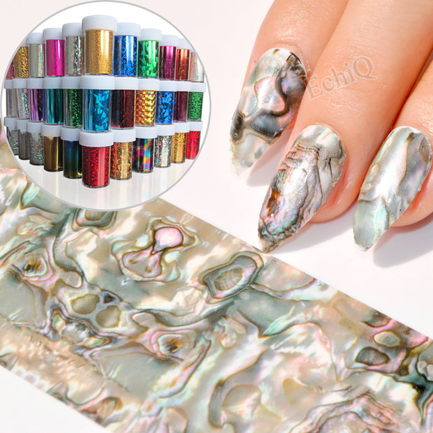 1 PC Galaxy series Sparkly Nail Art Stickers - Toyzor.com