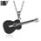 Stainless Steel Music Guitar Pendant Necklace