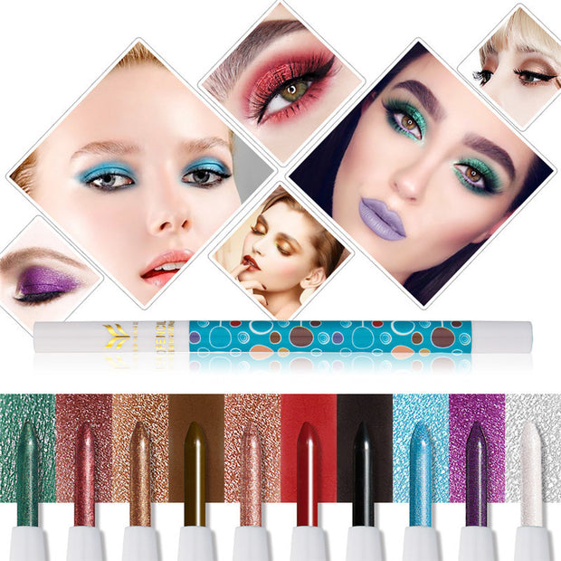 10 Color Smoked Shimmer Matte Eye Shadow Pen Pigment - Toyzor.com