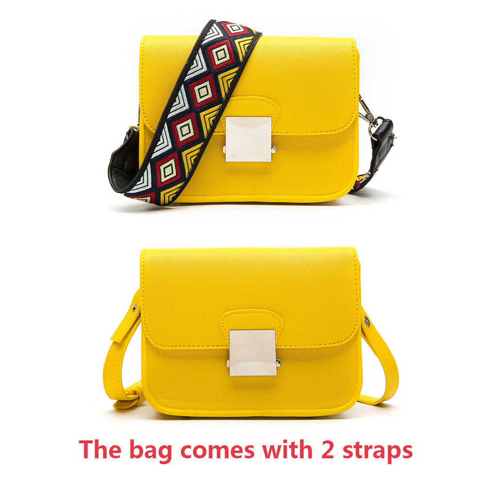 Two Strap PU Leather  Fashion Messenger Bags - Toyzor.com