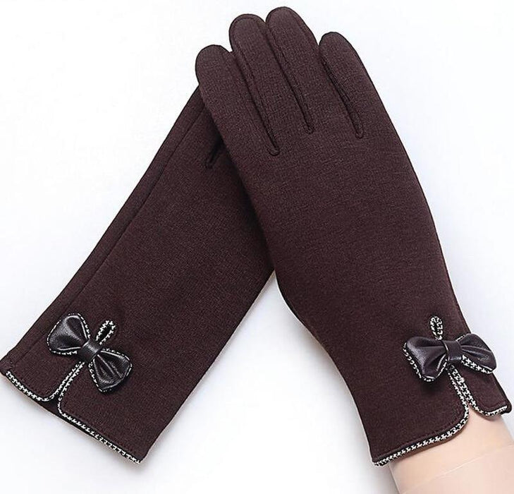High Quality Touch Screen Winter Bow Gloves