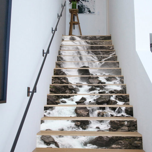 High Quality PVC Self Adhesive Staircase Stickers 3D Landscape Stairs Decals